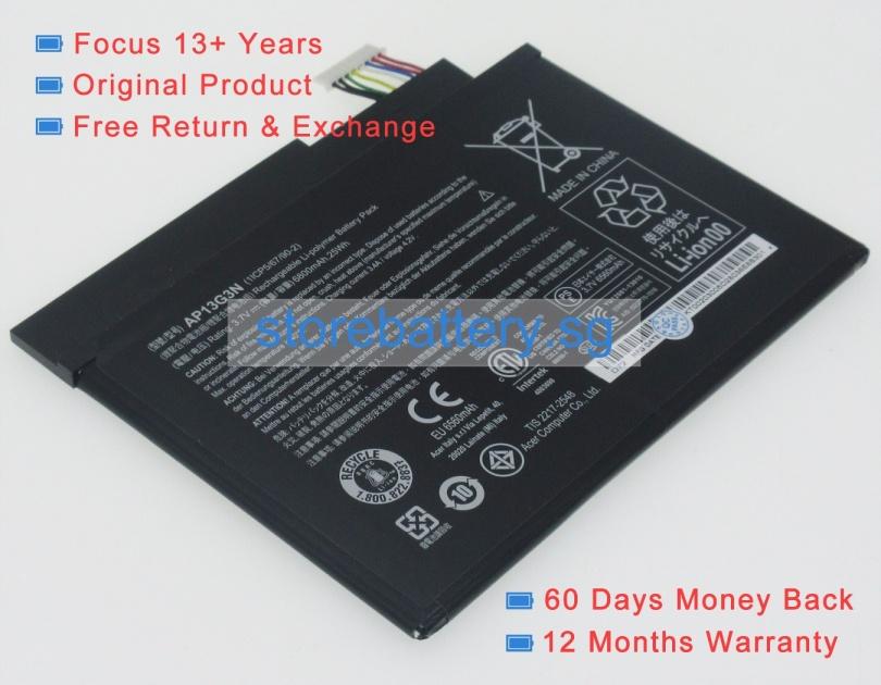 ap13g3n BATTERIA 3.7v 6800mah per Acer Iconia Tab w3